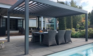 Piron Metallbau, Kleve, Lounge Lamellendach Überdachung Freistehend (5)_small